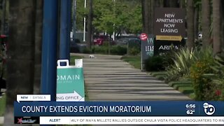 County extends eviction moratorium
