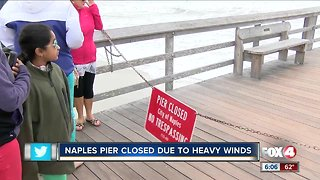 Naples Pier closed due to weather