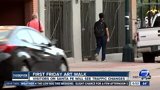 Temporary traffic changes for First Friday Art Walk on Santa Fe
