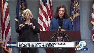 Gov. Whitmer provides update on state's response to COVID-19