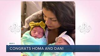 Homa Bash gives birth to twin girls