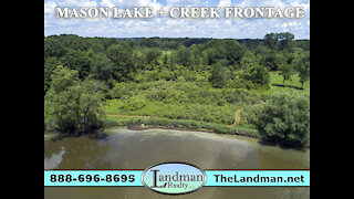 Mason Lake Acreage for Sale + Creek Frontage Marquette County WI SUMMER Video Tour