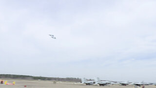 aerial change of command ceremony