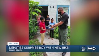 Deputies surprise boy with new bike