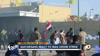 Locals react to drone strike that killed Iranian general