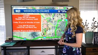 Weekend construction across the Valley May 29-Jun1