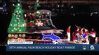 26th annual Palm Beach Holiday Boat Parade held in Palm Beach County