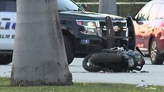 Motorcyclist killed in crash on Okeechobee Blvd. in West Palm Beach