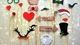 DIY Christmas party props