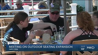 Cape Coral city leaders to discuss outdoor seating expansion on Monday