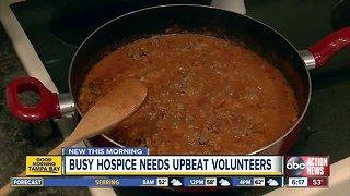 Hospice needs upbeat volunteers to cook in-home meals