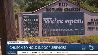 Church to hold indoor services despite health orders