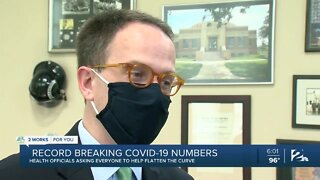 Record breaking COVID-19 numbers