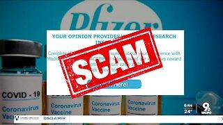 Better Business Bureau warns of vaccine survey scams