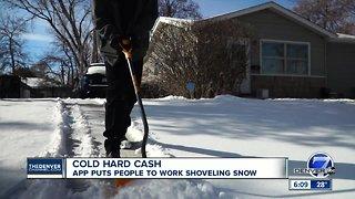Cold hard cash: App puts people to work shoveling snow