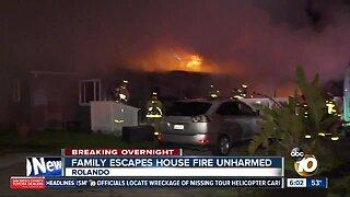 Family escapes Rolando house fire