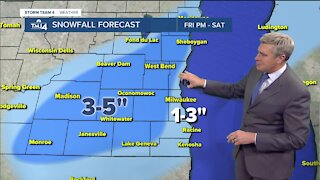Rain continues overnight with snow Saturday morning