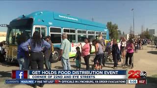 GET Holds Food Distribution Event