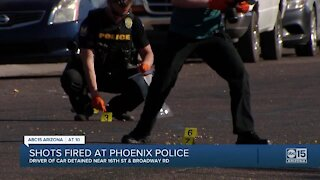 PD: Driver detained after shots were fired at an unmarked police vehicle