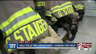 Kellyville Fire Department looking for help