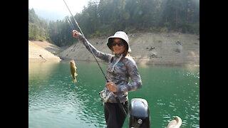 She's gone Bass Fishing