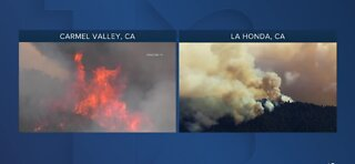 California firefighters continue to battle fires