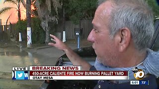 Pallet yard owner on Caliente Fire: 'All your years of work going away'