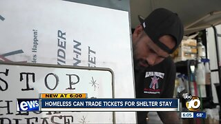 Homeless can trade tickets for shelter stay