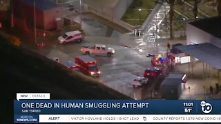 One dead in apparent human smuggling attempt