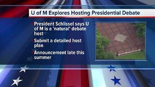 University of Michigan explores hosting presidential debate