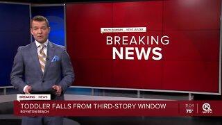 Toddler falls from third-story window in Boynton Beach