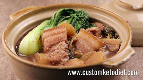 Keto Doenjang Braised Pork Belly Recipes