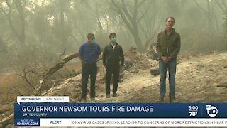 Governor Newsom tours fire damage