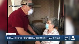 Couple separated by coronavirus pandemic finally reunited after more than a year apart