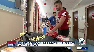 2019 Lou Groza finalists visit the Palm Beach Childrens Hospital