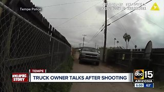 Truck owner speaks out after burglary and shooting death of teen