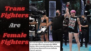 Former Special Forces Trans Fighter Chokes Out Woman in Debut Bout, Somehow That's 'Progress'?