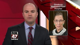 Ruth Bader Ginsburg released from hospital after surgery to remove cancerous cells