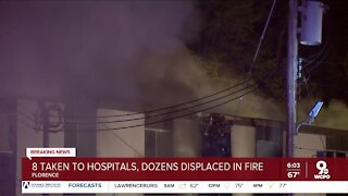 Dozens displaced after major apartment fire in Florence