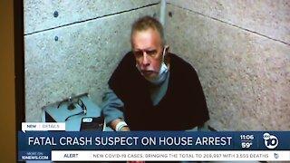 Fatal crash suspect on house arrest