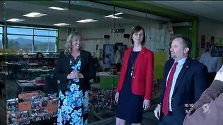 AZ Superintendent visits schools with Pima County superintendent
