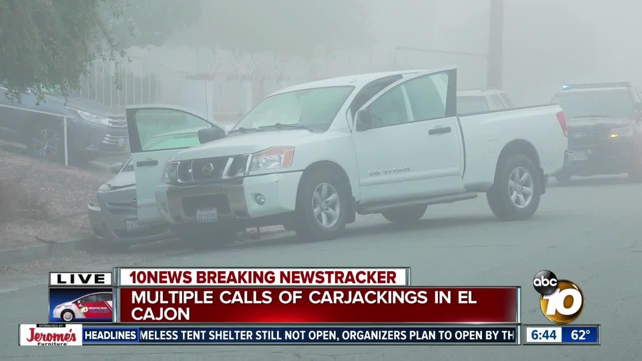 Police investigate multiple carjackings in El Cajon