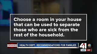 Health department recommendations for families