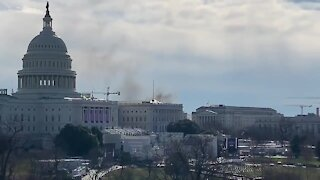 Military Police Responds To a Fire In U.S. Capitol