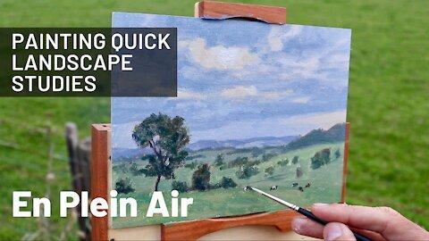 Painting Quick Landscape Studies EN PLEIN AIR