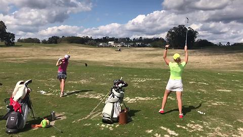 Incredible Golf Trick Shot On The First Go
