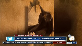 Salon closures lead to 'underground haircuts'