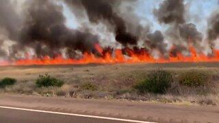 Sunset Fire burns near Cordes Lakes in Prescott