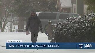 Winter weather vaccine delays