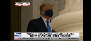 Trump paying respect